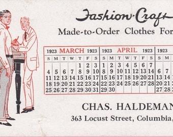 Vintage 1920s Chas. Haldeman, Columbia, PA  Advertising Ink Blotter - 6