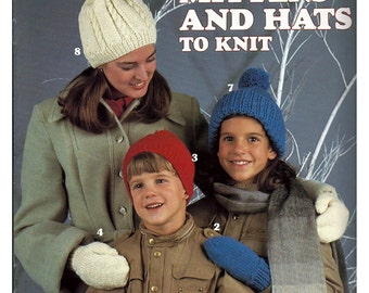Mittens and Hats To Knit Pattern Book   Leisure Arts 391