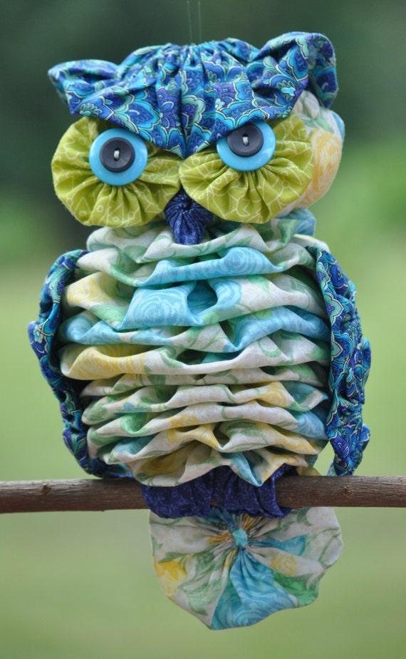 Free Crochet Yoyo Patterns : Yo-yo Owl Pattern