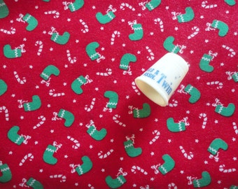 tiny stocking vintage cotton fabric -- 43 wide by 1 1/4 yard