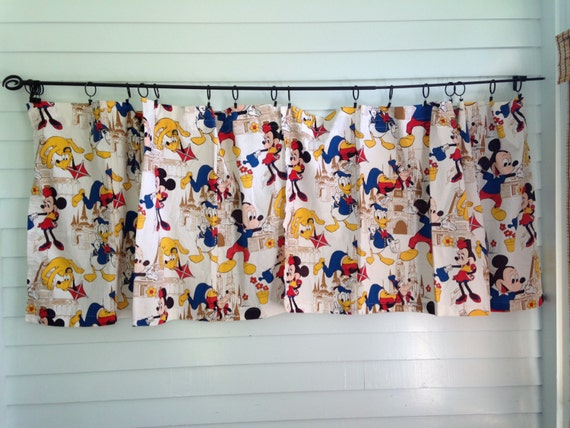 disney curtain panels vintage mickey mouse disneyland fabric curtains