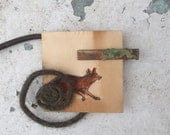 """Hair Barrette """"Run Bunny Run""""