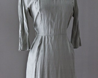 Pocket Shift Dress. / Pure Silk. Neutral Toned.
