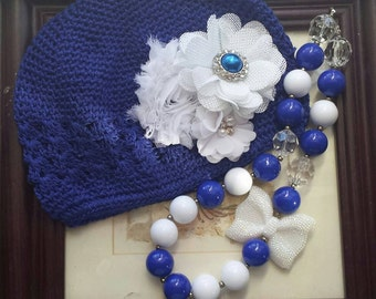 Necklace and hat set