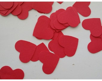 Red Hearts Die Cut Punches . 1 inch