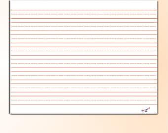 Lined Writing Paper Preschool Kindergarten Homeschool