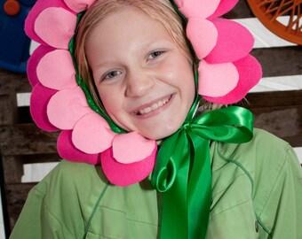 Flower Headpiece - Pink Felt - Flower Costume - Flower Crown -Alice in Wonderland - Flower Fairy
