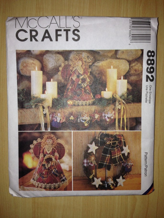McCalls Crafts Sewing Pattern 8892 Christmas Decorations