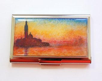 Monet Card Case, Business Card Case, Card case, business card holder, Monet, Impressionist, Saint-Georges majeur au crépuscule (4012)