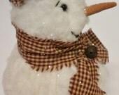Mrs. Frosty Snowman, Snow Lady Soft Sculpture, Woman Snowman, Snow Girl Doll