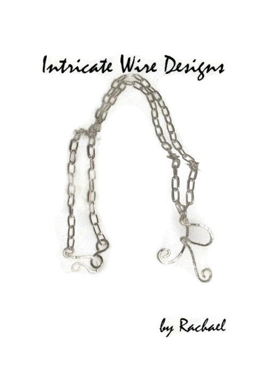 items similar to jewelry  initial necklace  wire wrapped