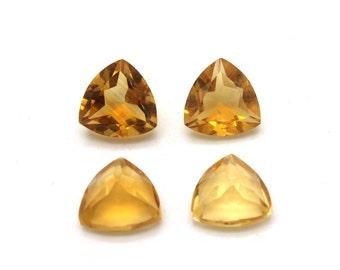 GCF-1346 - Citrine Faceted Gemstone - Trillion 10x10x10mm - Calibrated Gemstone - AA Quality - 1 Pc