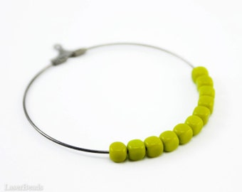 Cube Beads 4mm (50) Olive Green Czech Small Glass Spacers Opaque Pressed Geometry last