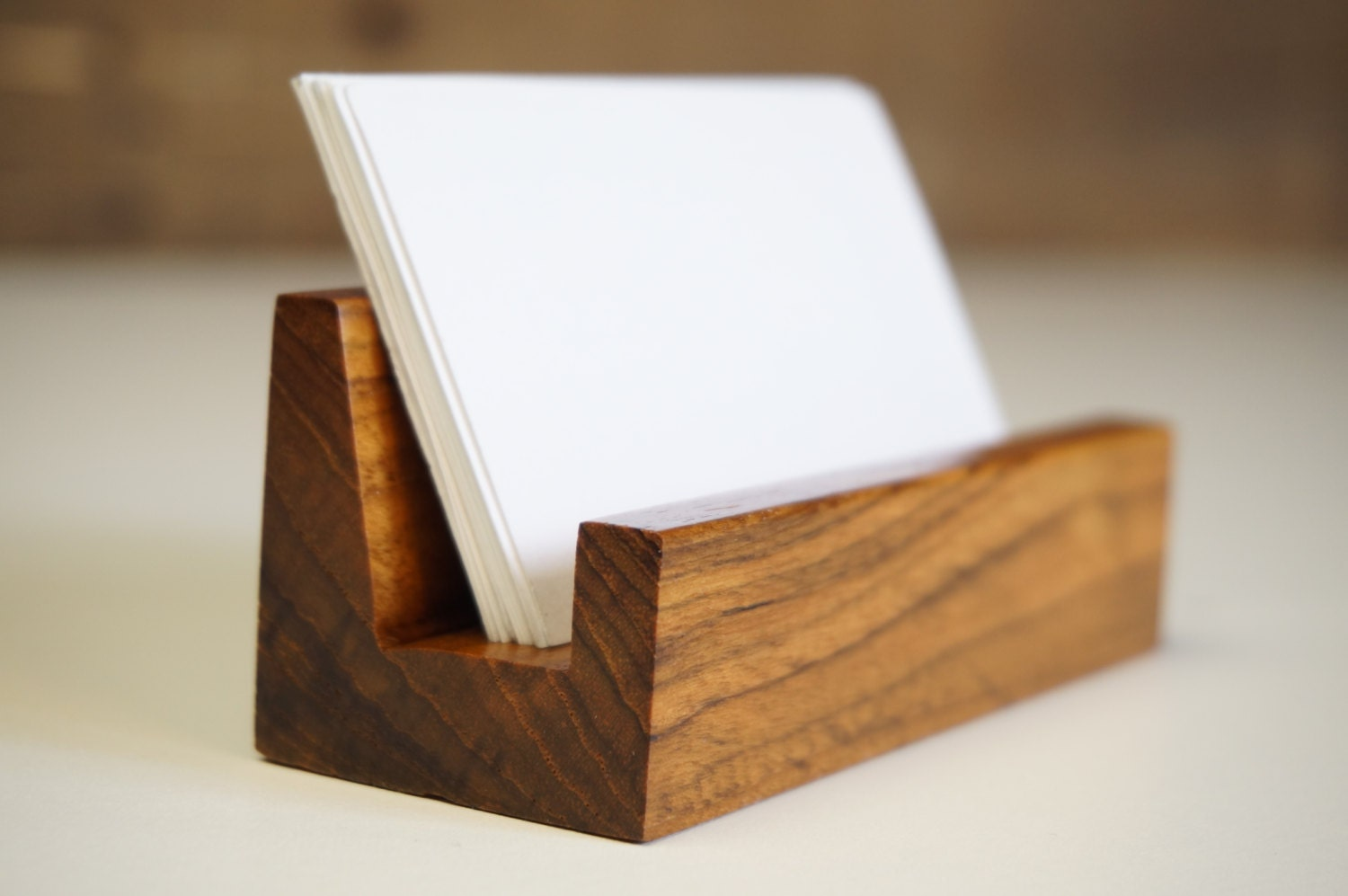 Wood fice Desk Business Card Holder fice Accessories