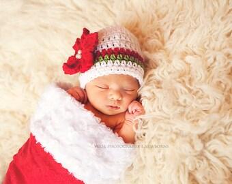 Baby girl christmas hat girl christmas outfit newborn