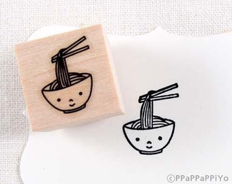 40% OFF SALE Cute noodles Rubber Stamp (20mm)