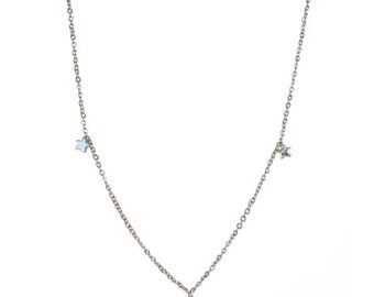 Necklace with Tiny Golden Star Charms