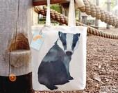 Badger Tote Bag, Reusable Shopper Bag, Cotton Tote, Ethically Produced Shopping Bag, Eco Tote Bag