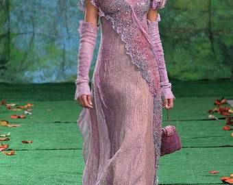 """Pattern for the Dress """"STARDUST"""" for felting with instructions. DC Fashion Week 2014"""
