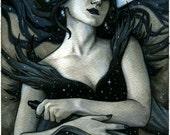 Magic Flute Queen of the Night Illustration 8.5x11 - SALE