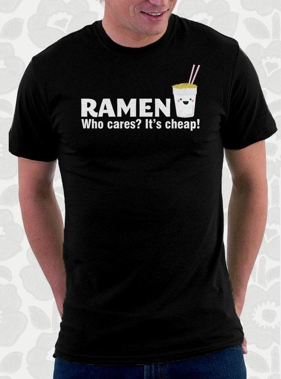 Ramen Noodles Kawaii Cute College Tshirt. 100% cotton shirt. Men. Women. Kids. Great Christmas gift