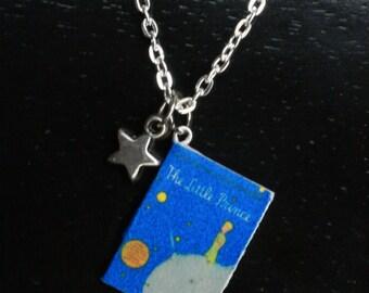Little Prince Mini Book Necklace