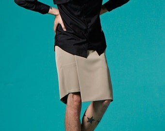 Two-tone Shirt (Black)