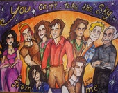 Firefly Serenity You Can't Take The Sky From Me ---- Joss Whedon television series fan art original illustration