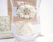 Wedding Garter Set, Bridal Garter Set, Ivory Lace Garter Set, Keepsake Garter, Baby baptism, Christening, Rustic, Vintage, country, elegant