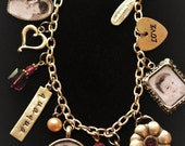 CUSTOM Memento Photo Charm Bracelet, Character Jewelry, Personalized with Children, Grandchildren and Loved Ones, Unique Gift Idea