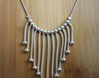 Sterling Silver Chandelier Necklace - Native American Jewelry