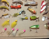 Collection of 44 Vintage Fishing Lures; FREE Shipping