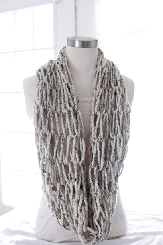 items similar to chunky knit infinity scarf trendy