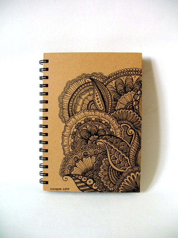 Art Book Front Cover Designs : Items similar to luxury journal sketchbook notebook hand