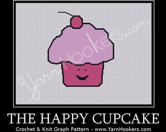 The Happy Cupcake - Afghan Crochet Graph Pattern Chart by Yarn Hookers
