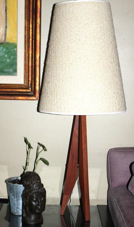 Eams era mid century danish teak wood tall lamp teak decor vintage