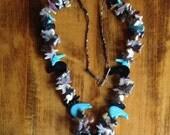 Sale - Native American Vintage Handmade Zuni Fetish Necklace