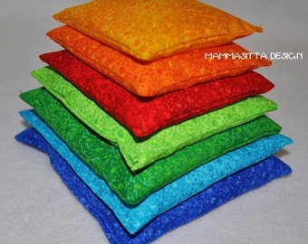 Colour Pyramid of 7 granule filled cushions for age 0-100 yrs, washable
