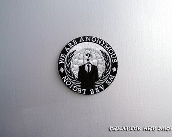 The Anonymous - sew/iron on Patch