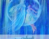Angel 8 x 10 Original Art Print, Earth Angels Poster, Inspirational Art Home Decor, Angel Lovers, Children's Room, One Love, Love, Spiritual