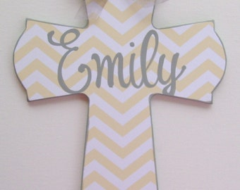 Hand painted personalized childs cross