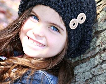 Slouchy Hat, Slouch hat, Child hat, Adult hat, Wool Hat, Ladies Hat, Girls Hat, Mommy & Me Hat, Winter Hat, Beret, Girls Beret