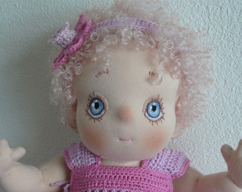 Marrichje, A Soft Sculptured Cloth Baby Doll who looks like a candy!