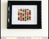 Doctor Who Inspired Scarf -  the 4th Doctor Cross Stitch ( Printable PDF ) Pattern - Immediate Download - Tardis Time & Space Tribute