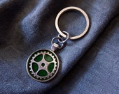 Gear Medallion Keychain -...