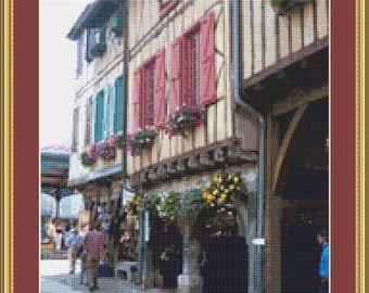 Houses In Mirepoix Cross Stitch Pattern