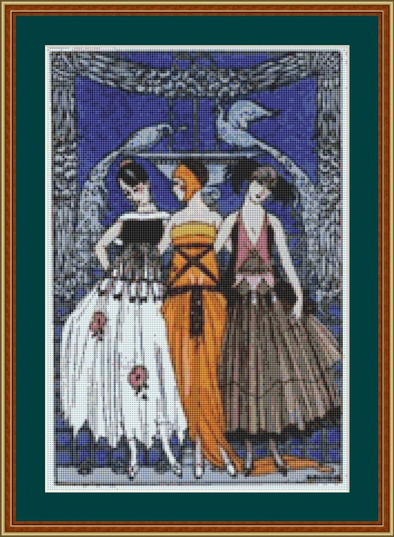 The Three Graces Cross Stitch Pattern /Digital PDF Files /Instant downloadable