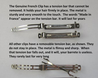 The Genuine French Barrette Clip vs All the rest 50mm 60mm 70mm 80mm 100mm