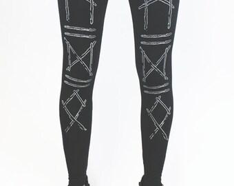 Runic Sticks leggings black