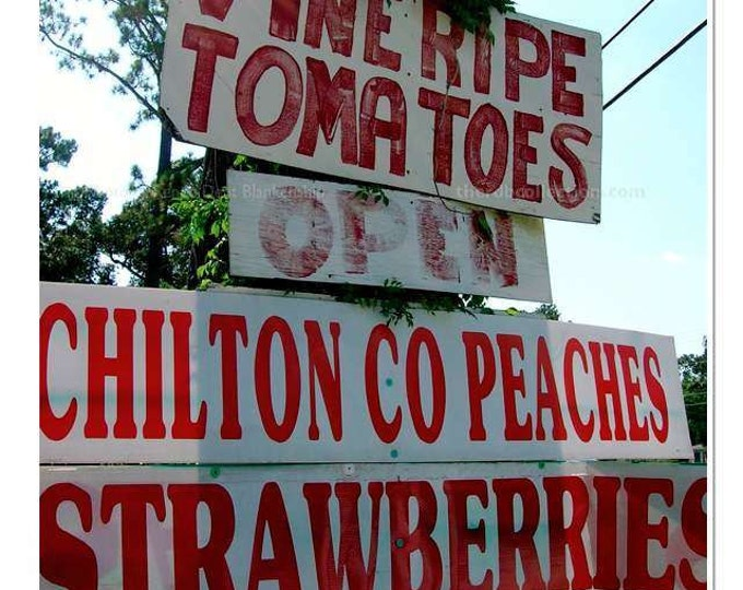 Produce Sign Photograph